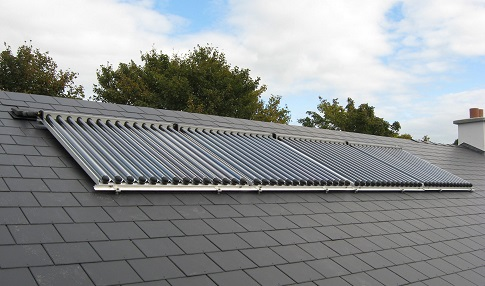 A 56 Tube Estec Solar (CPC Technology) - Collector system providing heating support to a low-energy house
