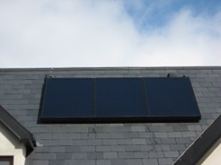 Panel installed on roof Cork