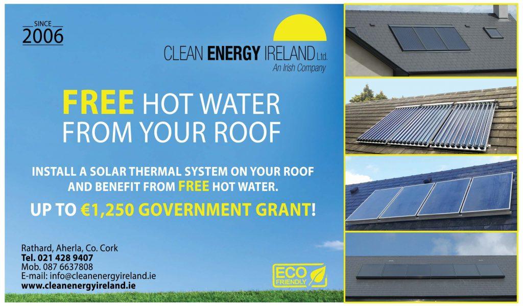 solar hot water, grant, solar panels, solar panels grant ireland